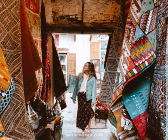 Imilchil Berber weavings and market shopping
